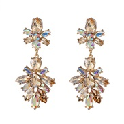 occidental style geometry diamond earring ear stud personality brief Korean style