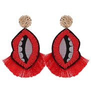 spring summer new occidental style big tassel pendant earrings woman Bohemia Rhinestone Earring