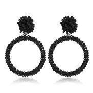 ( black White k)  retro occidental style temperament ear stud  fashion handmade beads Acrylic earrings arring