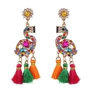( Color)creative earrings tassel long style diamond women ear stud romantic woman Earring