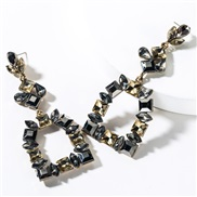 ( gray) occidental style exaggerating multilayer glass diamond diamond fully-jewelled earrings woman high-end fashion su