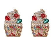 ( Color) creative woman style ear stud diamond personality occidental style