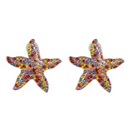 ( Color)occidental style wind personality starfish earrings ear stud