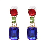 ( blue) gem earring o...