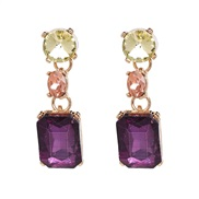 (purple) gem earring ...