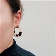 ( Beige)apan and Korea ethylic acid earrings Acrylic resin ear stud girl student personality earring fashion arring