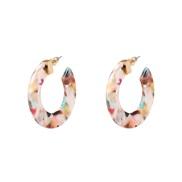 ( Color)apan and Korea ethylic acid earrings Acrylic resin ear stud girl student personality earring fashion arring