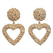 ( Gold)Korea fashion  temperament all-Purpose earrings   heart-shaped love ear stud woman