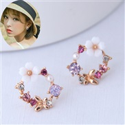Korean style fashion sweetOL concise personality woman ear stud