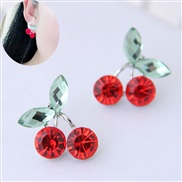 fine  Korean style fashion  sweet cherry personality ear stud