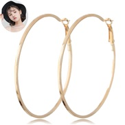 occidental style fashion  Metal concise circle temperament ear stud circle