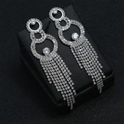 ( Silver)fashion occidental style wind  woman Street Snap style atmospheric diamond tassel exaggerating ear stud  claw c