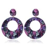 (purple)Acrylic Acetate sheet earrings woman occidental style retro personality earring woman temperament arring