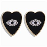 ( black)sweet love plates diamond fashion personality earring  occidental style exaggerating heart-shaped eyes atmospher