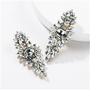 ( white)occidental style exaggerating multilayer Acrylic diamond geometry fully-jewelled earrings woman retro generous t
