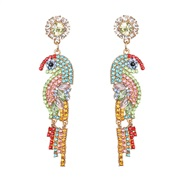 ear stud woman occidental style personality lady Colorful diamond samll temperament Earring