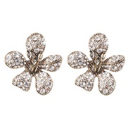 ( white) occidental style personality exaggerating elegant flowers ear stud retro wealthy woman earrings
