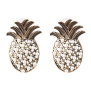 temperament personality earrings woman long style retro bronze diamond ear stud Earring