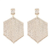 ( white)occidental style creative tassel Rhinestone earrings geometry earring fashion new Earring