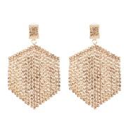( Champagne gold)occidental style creative tassel Rhinestone earrings geometry earring fashion new arring