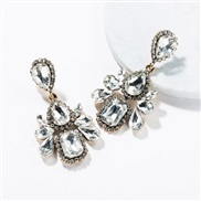 ( white)occidental style wind exaggerating multilayer drop Acrylic diamond fully-jewelled earrings woman retro fashion e