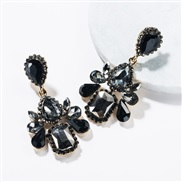 ( black)occidental style wind exaggerating multilayer drop Acrylic diamond fully-jewelled earrings woman retro fashion e