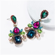 ( Color)occidental style wind exaggerating multilayer drop Acrylic diamond fully-jewelled earrings woman retro fashion e