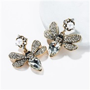 ( white)occidental style butterfly embed colorful diamond multilayer earrings retro Bohemian style