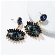 ( blue)occidental style exaggerating eyes earrings female Autumn and Winter fashion retro style Bohemian style
