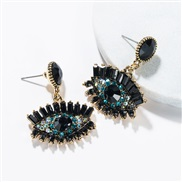 ( black)occidental style exaggerating eyes earrings female Autumn and Winter fashion retro style Bohemian style