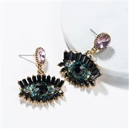 ( Pink)occidental style exaggerating eyes earrings female Autumn and Winter fashion retro style Bohemian style