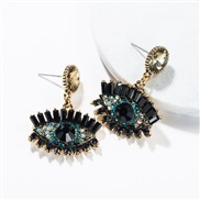 ( Gold)occidental style exaggerating eyes earrings female Autumn and Winter fashion retro style Bohemian style