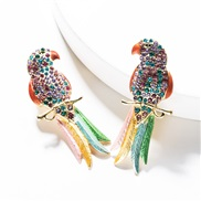 ( Color)exaggerating colorful diamond Acrylic diamond long earrings woman occidental style fashion personality ear stude