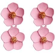 ( Pink)occidental style arring  Korea fashion temperament ear stud romantic multicolor flowers earrings earring woman