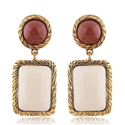 occidental style fashion  Metal accessories geometry square temperament exaggerating ear stud