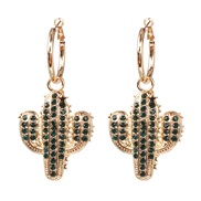 ( green)all-Purpose ear stud woman earring  occidental style exaggerating personality temperament brief earrings