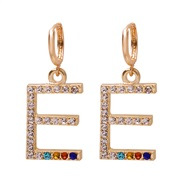 (E) occidental style fashion all-Purpose colorful diamond ear stud personality Word earrings woman