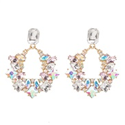 (AB)occidental style wind geometry square earrings fashion earring high-end