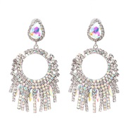 (AB)occidental style wind fashion personality exaggerating earrings high-end earring