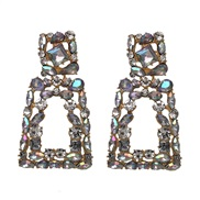 Alloy diamond geometry earring  occidental style exaggerating all-Purpose earrings