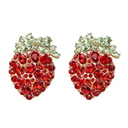 occidental style retro personality ear stud diamond Earring high-end quality