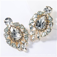 ( white)occidental style exaggerating fashion drop multilayer Alloy diamond glass diamond earrings woman trend super Ear