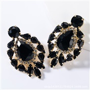 ( black)occidental style exaggerating fashion drop multilayer Alloy diamond glass diamond earrings woman trend super arr