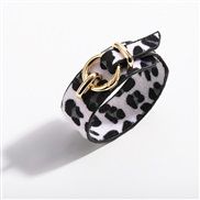 ( leopard printblack and white)trend cortex bangle  snakeskin leopard velvet Imitation leather leather