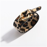 ( leopard print brown)trend cortex bangle  snakeskin leopard velvet Imitation leather leather