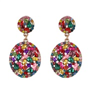 ( Color) retro geometry drop mosaic ear stud personality all-Purpose occidental style exaggerating temperament earrings