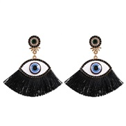 ( black)Korea womanins exaggerating personality big eyes tassel ear stud fashion retro diamond arring earrings