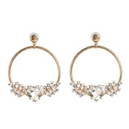 ( white)UR personality cirque love fashion earring woman Street Snap trend earrings
