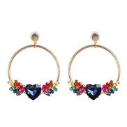 ( Color)UR personality cirque love fashion earring woman Street Snap trend earrings