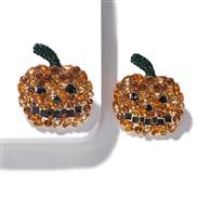 ( Diamond drill )same style Alloy diamond earrings creative ear stud fashion Street Snap